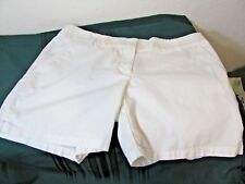 """LOFT BY ANN TAYLOR ~ LADYS 6"""" SHORTS~NWT~WHITE~SIZE 6~WASHED"""