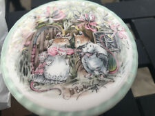 """Royal Doulton Bramley Hedge Summer Trinket Box Item. 3.5"""" By 1.5 Inches"""