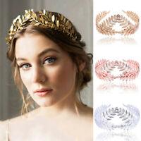Womens Headband Goddess Leaf Flower Hair Crown Head Piece Gold Band Bridal Decor