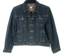 Vintage Wrangler Women's Denim Jacket Button Front Black Tapered Size XL