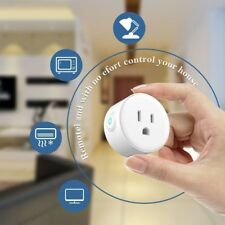 Mini Smart Wifi Outlet White Remote Control Socket Power Home Safety US Plug