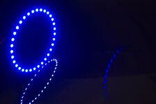 *USA SELLER* 100mm BLUE LED ANGEL EYE HALO RING LIGHT 3528 SMD (PAIR)