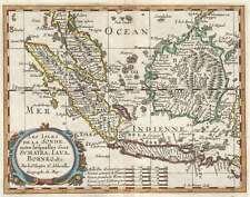 1657 Sanson Map of the East Indies (Sumatra, Java, Borneo)