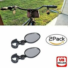 2x Mountain Glass Mirror Adjustable Fits Hybrid MTB Recumbent Bike Urban Bicycle