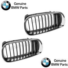 BMW E46 02-05 4dr OEM Kidney Grille Chrome Black Front L+R lh Driver Vent Frame