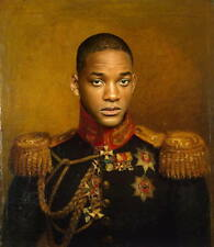 "100% Hand Painted Portrait Oil Painting on Canvas/General ""Will Smith"""