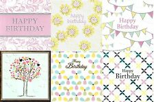 Assorted Pack of 6 Floral Birthday Greeting Cards Mixed Greetings Card Bundles