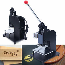 New Listing500W Hot Foil Stamping Leather Embossing Machine Manual Rubber Plastic Press Usa