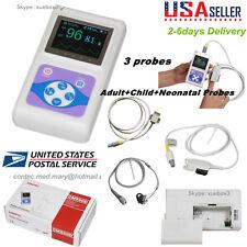 Contec Oled Fingertip Pulse Oximeter Cms60d Adultchildneonatal Probe Usa New