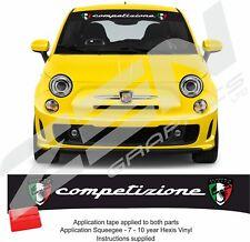 Fiat 500 / 595 / 695 Abarth italia competizione Sunstrip visor decals stickers