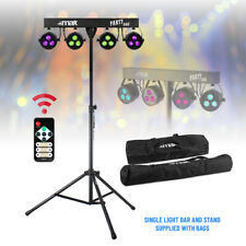 More details for battery or mains powered led party light par disco stage system stand & bags