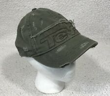 387d1c290 Teva Baseball Cap Hat Green Distressed ONE SIZE Adjustable hook loop