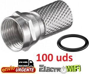 Conectores F macho 6,60 mm con junta de goma - Bolsa de 100 unidades