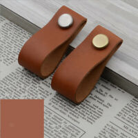 Pack of 24 PU Leather Cabinet Pulls Drawer Closet Furniture Door Knob Handle