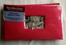 Recollections Red 4 x 6 Photo Album Holds 36 Photos NEW