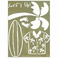 Lasting Impressions Brass Stencil Template Surf's Up, NEW