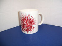 2014 Starbucks Traditional White Coffee Mug (12 oz) w/ Red Starburst Festive Cup