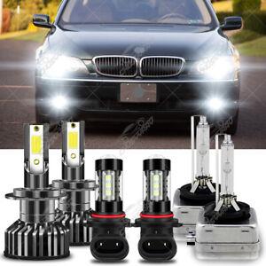 For BMW 750i 750Li 760Li 2006 2007 2008 LED HID Headlight High/Low+Fog Light Kit