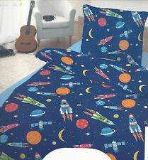 Bettwäsche Space Weltall 135 x 200 cm  Baumwolle m. RV