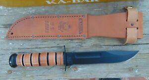 "KA-BAR 12""  US. Army 1220 Fixed Blade Knife, 1095 High Carbon, NIB,free shipping"