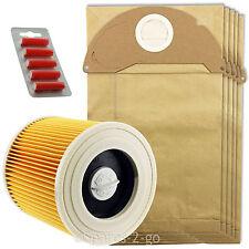 5 x wet & dry WD2.240 WD2.250 sacs & filtre pour karcher aspirateur + fresh