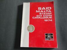 RARE MALTA SAID STAMP AND COIN CATALOGUE BOOK 1974