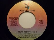 "7"" RON BUTLER AND THE RAMBLERS - Peace And Love - EX - PLAYBOY - P 6034 - US"