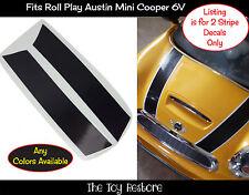 Ricambio Adesivi Decalcomanie Per Rollplay Mini Cooper 6V Cappuccio Strisce