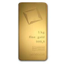 1000 gram Gold Bar - Valcambi (Pressed w/Assay) - SKU #85613