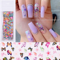 10pcs/set Butterfly Colorful Nail Foils Nail Art Foil Transfer Stickers Decals