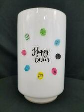 """RAE DUNN Hurricane Candle Holder Vase Canister Glass White Jar Easter Decor 10"""""""