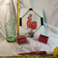 Vintage Coca Cola Advertising Top Store Cooler Music Box, T-shirts, Openers, Cap