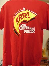 TIM HORTON'S COFFEE Roll up the Rim 2 Two Sided STAFF T Shirt XL