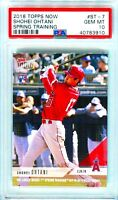 2018 Topps Now Spring Training Shohei Ohtani RC #ST-7 New PSA 10 QTY DISCOUNT!