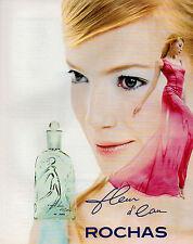 Publicité Advertising 1996  Parfum  Fleur d'eau  ROCHAS ..