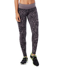 Zumba SCRIBBLE LONG LEGGINGS PANTS - XS -  NWT GO FOR GUNMETAL