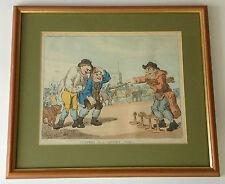 THOMAS ROWLANDSON 1756-1827 original 18th century signed colour etching Gaffers