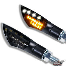 LED mini intermitentes dual motocicleta universal negro tintadas + luz de estacionamiento