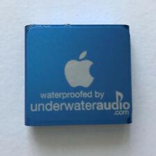 Underwater Audio iPod Shuffle Blue Waterproof Swimming MP3 underwateraudio