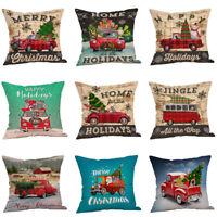 Merry Christmas Sofa Creative Car Throw Cushion Cover Pillow Case Pillowcase 1PC