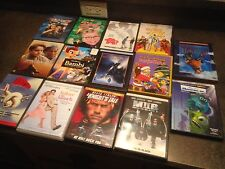 (14) Classic Dvd Lot: Holy Grail/Bambi/Monsters/Airp lane/Top Gun/Christmas Story