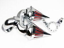 For Harley CV CARB DELPHI V-TWIN EFT SPORTSTER CHROME Double SPIKE AIR CLEANER