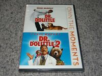 Dr Dolittle 1 & 2 (DVD, 2012, 2-Disc Set) NEW, Eddie Murphy Family Comedy SEALED