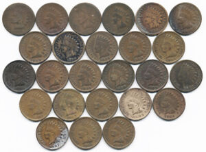 1864-1909 PARTIAL INDIAN HEAD CENT COLLECTION