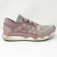 Reebok Womens Floatride Run Ultraknit CN2590 Pink Running Shoes Lace Up Size 9.5