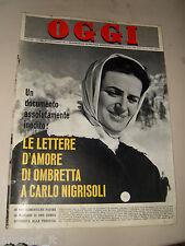 OGGI=1964/46=OMBRETTA GALEFFI=FRANCOFONTE=VALENTINA TERESKOVA=CARLO CARRA=