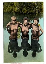 SOUTH AFRICA ~ 3 SEMI-NUDE GAIKA WOMEN READY TO BATHE ~ c. 1904-14