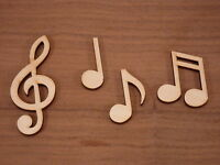 Wooden choral note shapes, music notes wood craft Blank, plaque and card making.