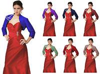 Red/BLue/Black Soft Satin Bolero/Shrug/Jacket/Stole 3/4 Length Sleeves XS S M L