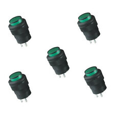 5X 16MM Momentary push button switch with Green LED lighting 4Pin 3A  Cheap